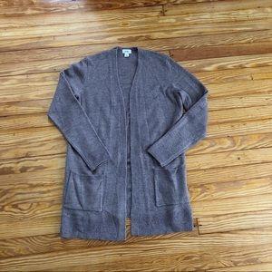 Light brown oversized cardigan sweater